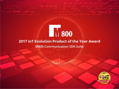 M800 Limited Receives 2017 IoT Evolution Product of the Year Award