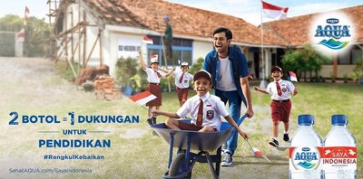 AQUA Invites Indonesians to Embrace Goodness to Support Education