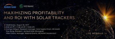 Arctech Solar to Partner with IHS Markit for a Live Tracker Webinar on August 30