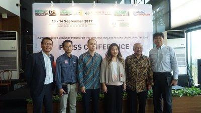 Konferensi Pers 5 Mega Events; Mining Indonesia, Construction Indonesia, Concrete Show SEA, Oil and Gas Indonesia, & Marintec Indonesia
