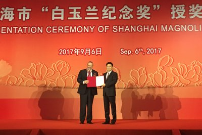 Air Liquide China Chairman and CEO honored with Magnolia Silver Award from Shanghai Municipal Government