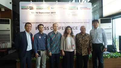 Press Conference 5 Mega Events; Mining Indonesia, Construction Indonesia, Concrete Show South East Asia, Oil and Gas Indonesia, & Marintec Indonesia
