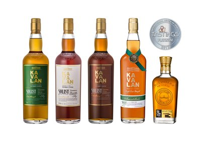 Kavalan Gains Five Platinum Awards at International Review of Spirits