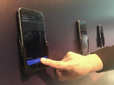 Otis' eCall™ mobile app can help passengers call an elevator in advance