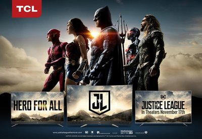 TCL Joins Forces with Warner Bros. Pictures' Highly Anticipated Justice League Movie in Official International TV Partnership