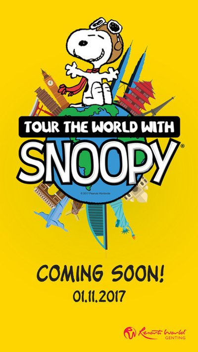 """Join Snoopy for the first """"Tour the World with Snoopy"""" from 1st November 2017 to 1st January 2018 at Resorts World Genting"""