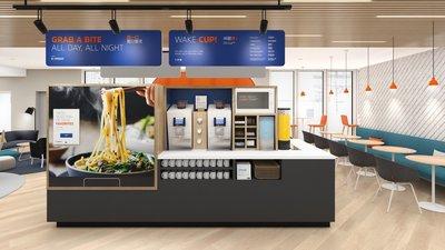 """""""新一代""""餐饮区设计图"""