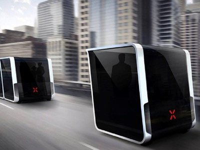 The 2 meters intelligent e-bus which will be developed by Foton Motor and TDG