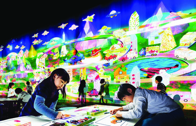 Sketch Town - a town that grows and evolves according to the pictures drawn by children.