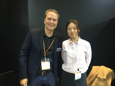 Mouvent CBO Reto Simmen (left) & Ivy Chen from TPF (right) during interview