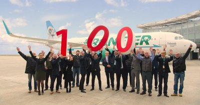 CALC Celebrates its 100th Aircraft Delivery by Taking its First Airbus A320neo to US carrier Frontier Airlines