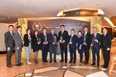 富通保險共獲得九項殊榮,包括「年度保險企業大獎」,成為全場焦點。