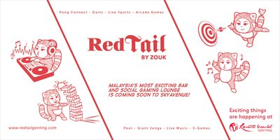 Trendy RedTail Bar by Zouk opens at Resorts World Genting