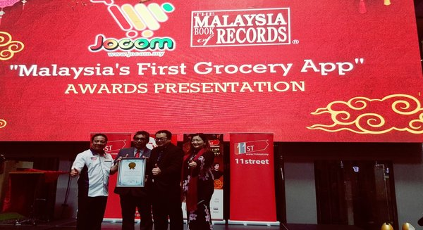 Online Grocery Recognise as the First Grocery Mobile Commerce App by Malaysia Book of Records