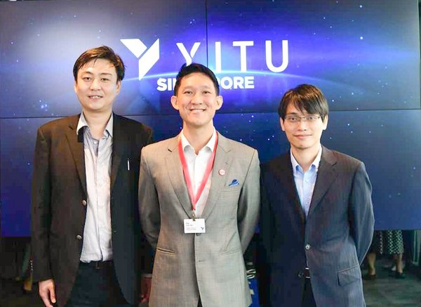 Lance Wang, General Manager of Southeast Asia, Hong Kong and Macau at YITU Technology, Ang Chin Tah, Director of Infocommunications and Media, Singapore Economic Development Board and Lin Chenxi, Co-Founder, YITU Technology, at the official opening of YITU Technology's first international office in Singapore.