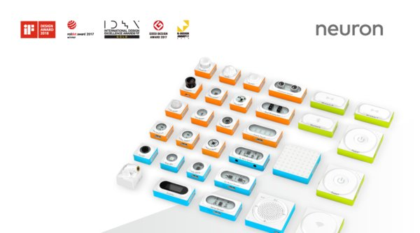 iF DESIGN AWARD winner the programmable electronic building block platform Makeblock Neuron