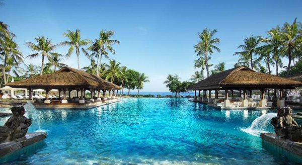 Escape the winter blues with heavenly tropical views (pictured: InterContinental Bali)