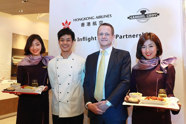 Hong Kong Airlines partners with local chef Gabriel Choy for new Business Class inflight menu