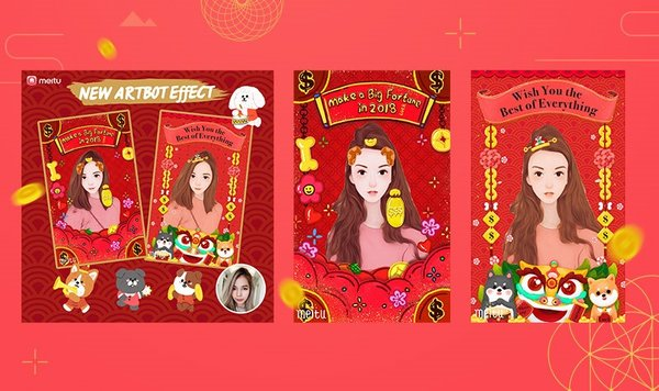 Meitu revealed an upgraded versin of Andy effects for Chinese New Year