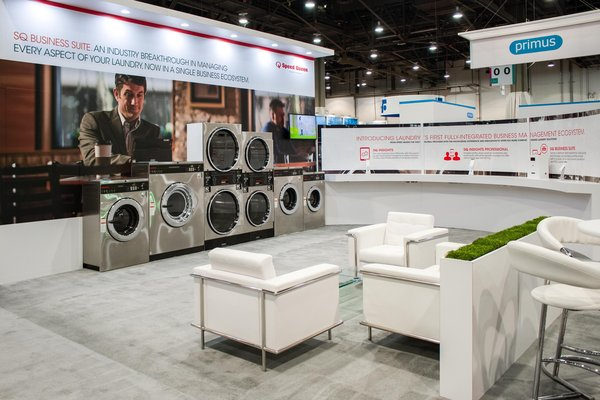 Impressions of the Alliance Laundry Systems booth at 'Clean Show 2017' in Las Vegas, Nevada.