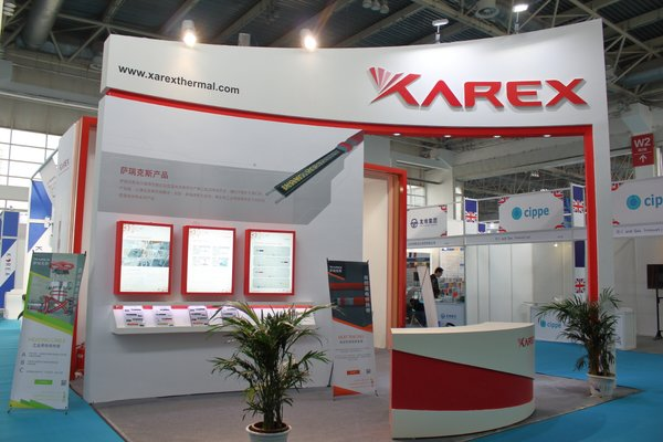 Xarex booth at CIPPE 2018, waiting for its customers
