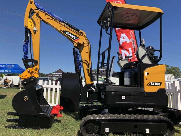 SANY mini excavators make successful debut in Australian national expo