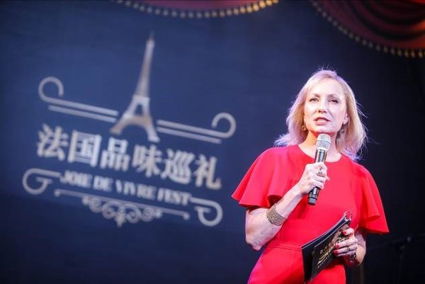 Ruth Boston, Senior Vice President, Marketing and Brand Management, Sands China Ltd. at the opening night of Joie De Vivre Festival at The Parisian Macao Eiffel Tower.