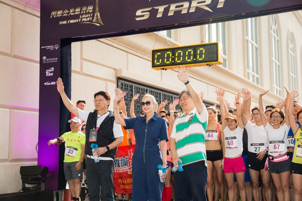 Global Superstar David Beckham Officiates at Inaugural 'Light The Night Run' Charity Vertical Race at The Parisian Macao's Eiffel Tower