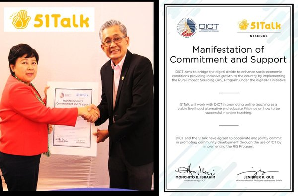 51Talk Signs a Manifestation of Commitment and Support with the Department of Information and Communications Technology (DICT)