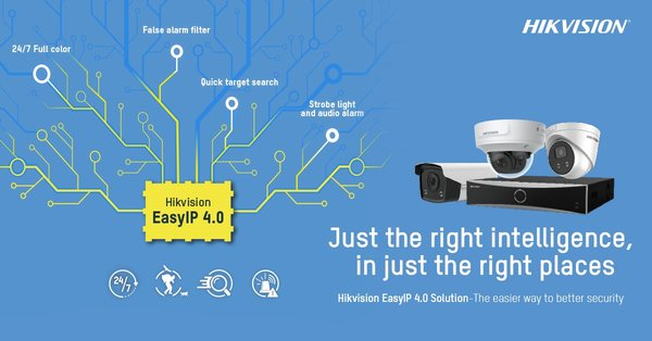 Hikvision launches EasyIP 4.0 cameras and NVRs to help small and medium businesses maximize their site security