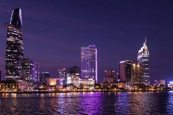 Skyline of Ho Chi Minh City at night