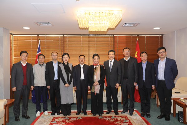Moutai delegation visits the Consulate-General of China in Auckland