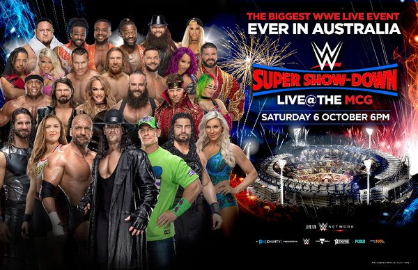 Biggest WWE(R) live event ever in Australia on Saturday, October 6 at the iconic Melbourne Cricket Ground.