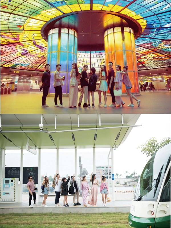 Shooting spots: Kaohsiung the Formosa Boulevard Station to see the Dome of Light and Pier-2 Light rail station