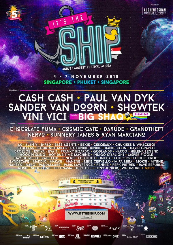 IT'S THE SHIP Singapore 2018 Official Lineup