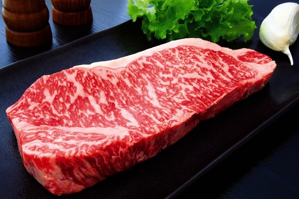 The clear marbling of Korean beef