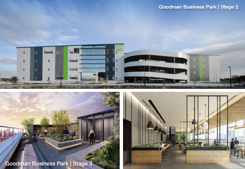 Goodman Business Park Chiba Stage 2 complete Stage 3 rendering