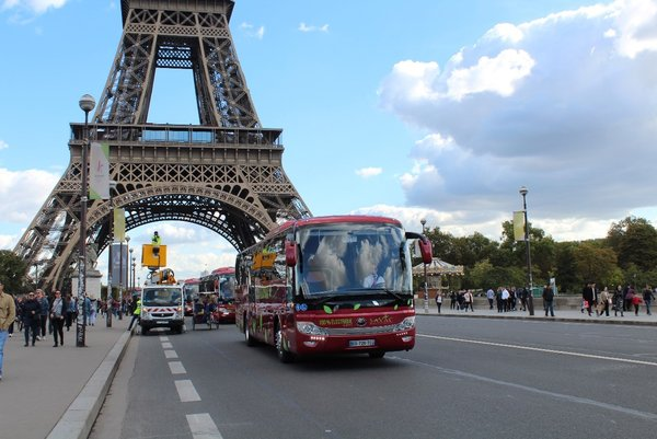Yutong New Energy bus in Paris
