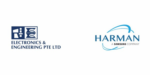 Electronics & Engineering Pte Ltd and HARMAN Logo