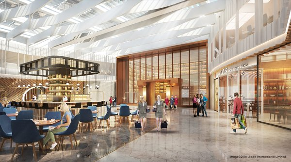 An integrated workspace with retail and hospitality makes it very convenient for travellers to commute between buildings within the terminal as the airport aims to strengthen itself as a commercial hub in the new district.