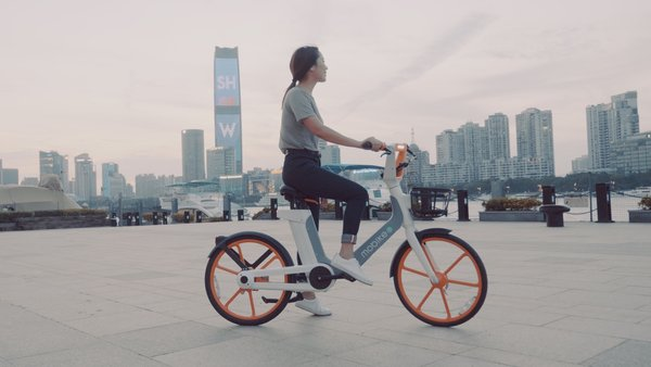 The new e-bike from Mobike with tires made from Dow materials