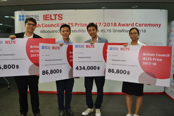 British Council IELTS Prize 2017/18 Thailand winners