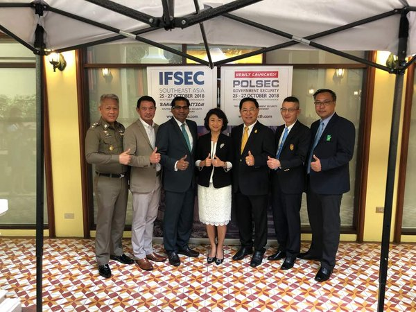 Renowned speakers at IFSEC Southeast Asia seminar. From L-R: Police Colonel Akkarin Sukkasem, Royal Thai Police, General Bunjerd Tientongdee, National Space Policy Committee and National Cybersecurity Committee, Mr M Gandhi, UBM Asia, Ms Anuchana Vichvech, UBM Asia (Thailand) Co Ltd, Dr Vallop Kingchansilp, Asia-Pacific Security Association, Major General Dr Prachya Chalermwat, Office of the Permanent Secretary for Defence, Mr Surachet Sringam, The Building Inspectors Association