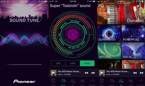 Pioneer Sound Tune App