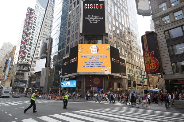 361度登陆纽约时代广场