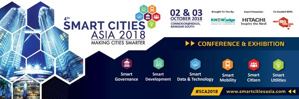 The Flagship Smart Cities event is back for the 4th year running in KL Announced for 2 & 3 October 2018