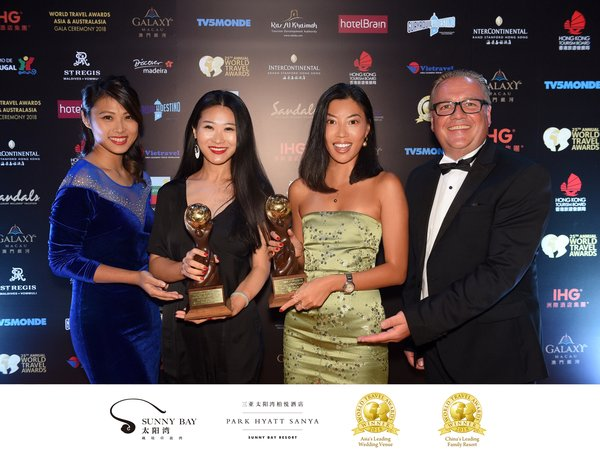 Sanya Sunny Bay Won the awards for Asia's Leading Wedding Venue 2018 & China's Leading Family Resort 2018