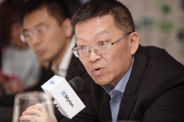 Mylan(迈蓝)中国区总经理丁淦答记者问
