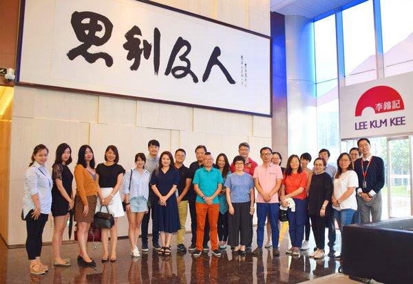徐汇区统战部领导率团参观李锦记大厦