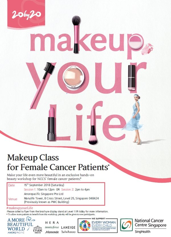 Amorepacific Singapore empowers female cancer patients with 'makeup your Life' campaign.